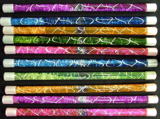 Glitter batons