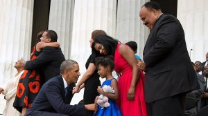 Obama and MLK jr grand daughter