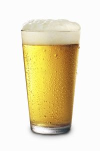 Pint glass of Beer