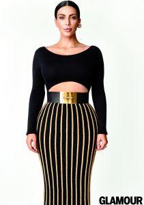 Kim Kardashian Glamour Magazine