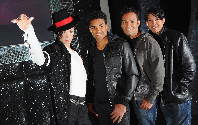 3T Visit Michael Jackson's Waxwork At Madame Tussauds