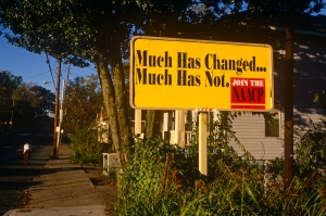 USA - Atlanta - NAACP sign on residential street