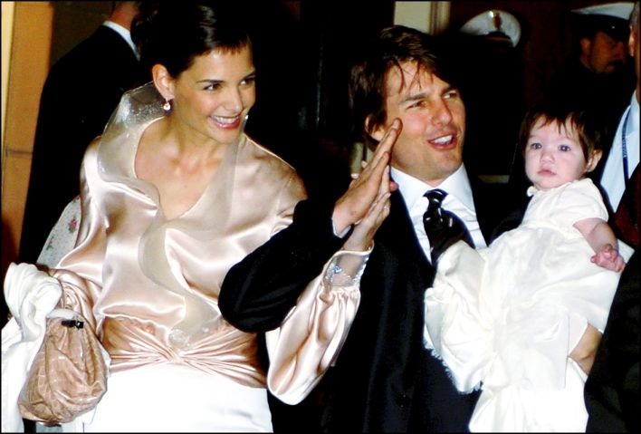 Tom Cruise and Katie Holmes in Rome for wedding in Rome, Italy on November 16, 2006.