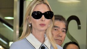 Ivanka Trump and William F. Hagerty arrive at Narita International Airport