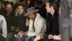 fabolous and son johan at Mercedes-Benz fashion week Fall 2015