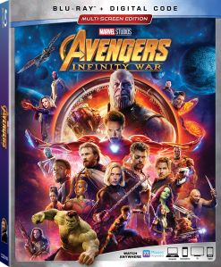 2018 Avengers Infinity War Blu-Ray DVD