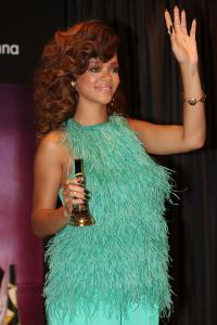 Rihanna Makes A Personal Appearance To Launch Her New Scent 'Reb'l Fleur'