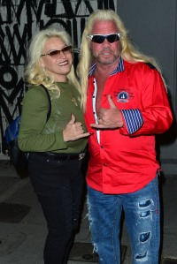 Dog The Bounty Hunter And WIfe Beth Smith Having Dinner At Craig's Restaurant.