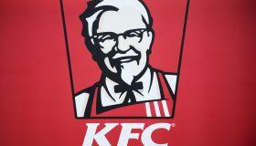 KFC logo is seen in Krakow. Krakow is a the second largest...