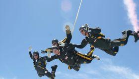 Former President Bush Celebrates 80th Birthday With Jump