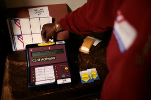 USA - Midterm Elections - Washington DC - Polling Station Volunteer