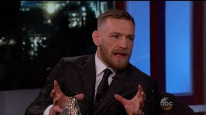 Conor McGregor during an appearance on ABC's 'Jimmy Kimmel Live!'