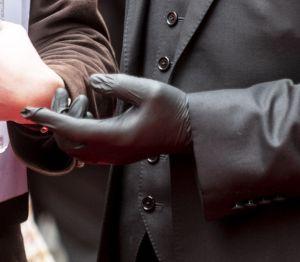 Richard E Grant wears latex gloves at The Prince's Trust Awards, The London Palladium 11 Mar 2020 Ph...