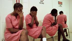 Female Inmates Hiding their Faces