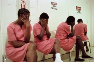 Female Inmates Hiding their Faces