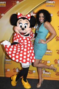 Jordin Sparks Visits Minnie Mouse At Walt Disney World