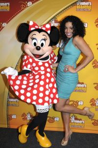 Jordin Sparks Visits Minnie Mouse At Walt Disney World