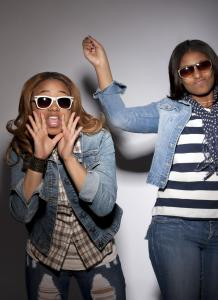 Teens girls singing rap song
