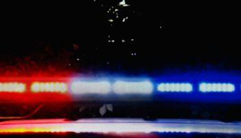 Flashing LED police car lights
