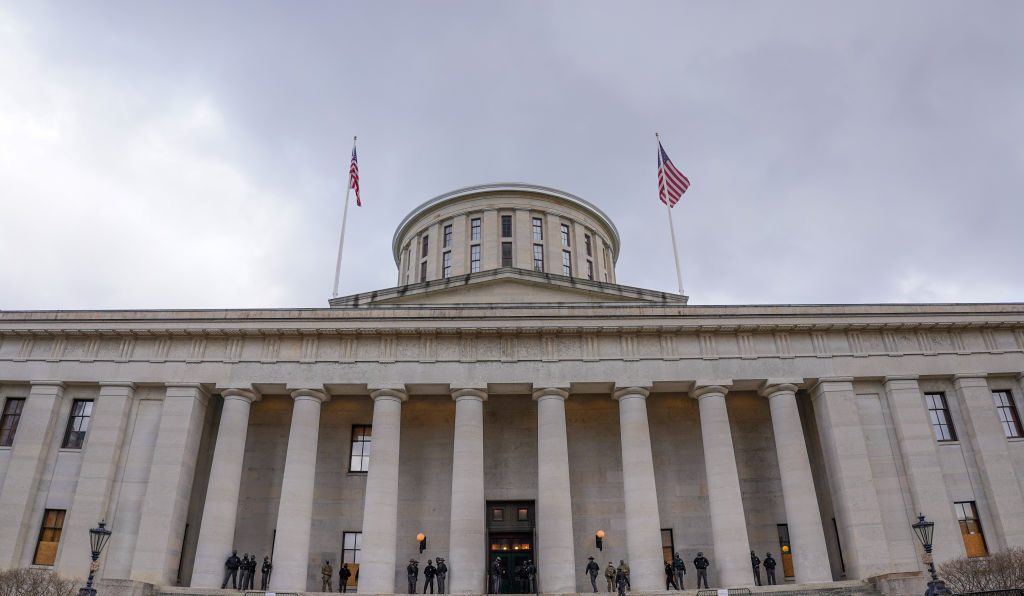 Armed Protests Threat At The Ohio Statehouse Capitol Building