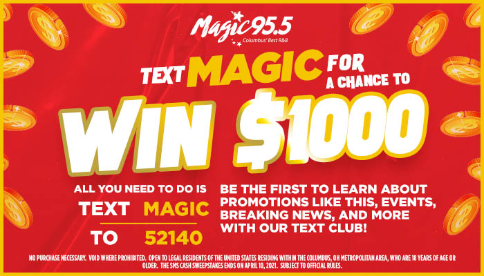 WXMG SMS Cash Contest