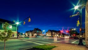 Dublin, Ohio at night