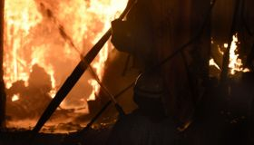 Massive Fire At A Plywood And Plumbing Hardware Shop In Gurugram