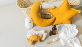 Baby accessories for bath or health care.