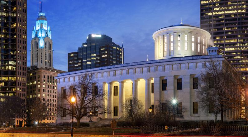 Panorama, Ohio Statehouse, Columbus, Ohio, America