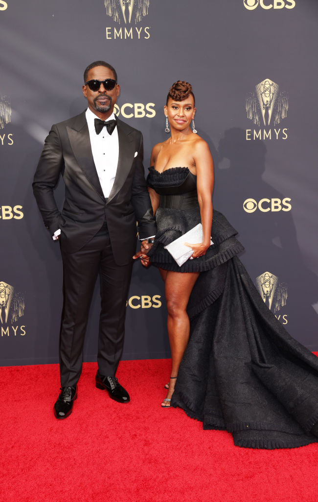 All the Lewks & Hot Mess from the 2021 Emmy Red Carpet: Sterling K. Brown and Ryan Michelle Bathe