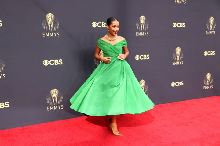 All the Lewks & Hot Mess from the 2021 Emmy Red Carpet: Yara Shahidi