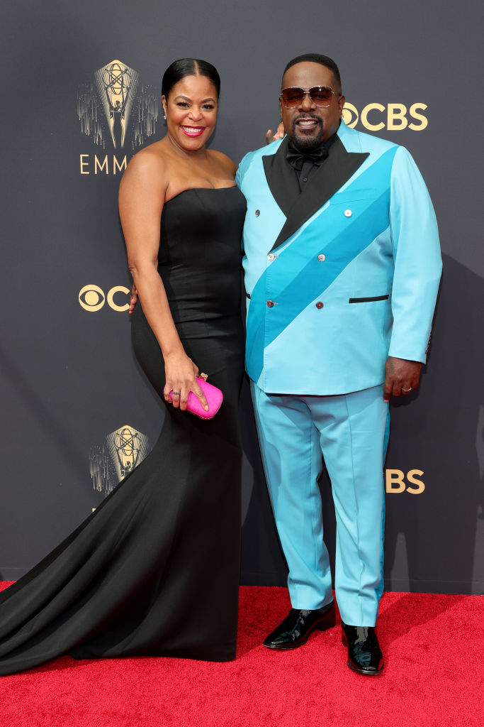 All the Lewks & Hot Mess from the 2021 Emmy Red Carpet: Lorna Wells and Cedrick the Entertainer