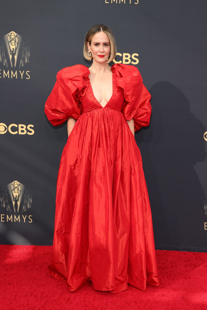 All the Lewks & Hot Mess from the 2021 Emmy Red Carpet: Sarah Paulson