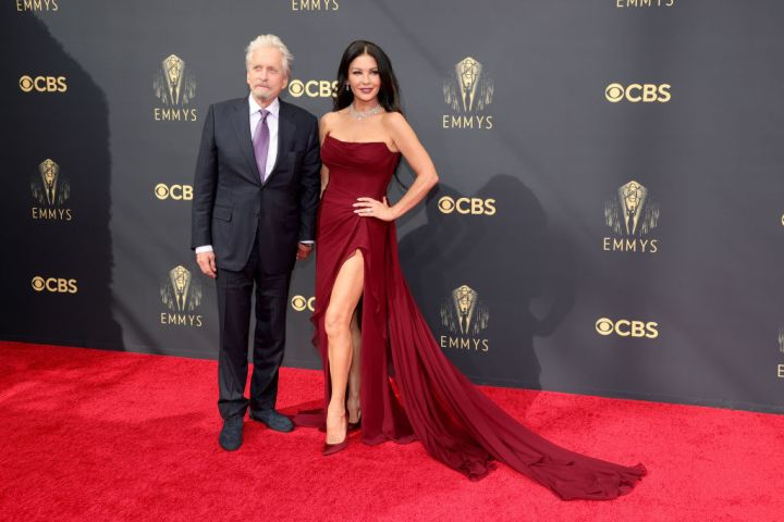 All the Lewks & Hot Mess from the 2021 Emmy Red Carpet: Michael Douglas and Catherine Zeta-Jones