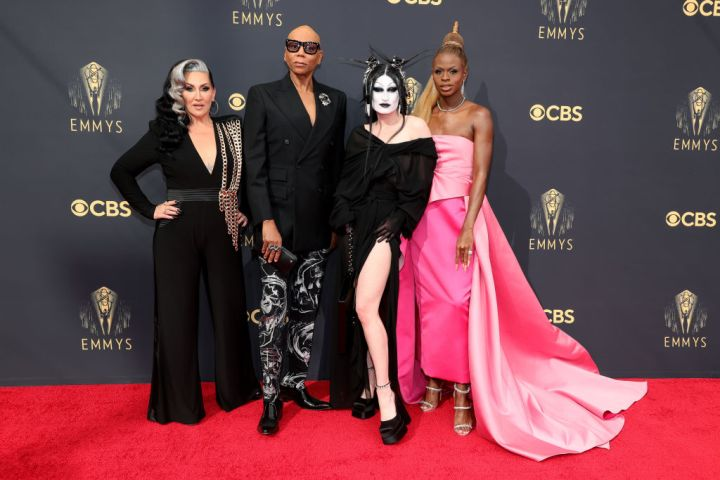 All the Lewks & Hot Mess from the 2021 Emmy Red Carpet: Michelle Visage, RuPaul, Gottmik, and Symone